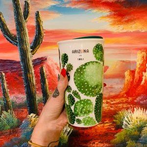 Starbucks Arizona 12 oz ceramic tumbler cactus